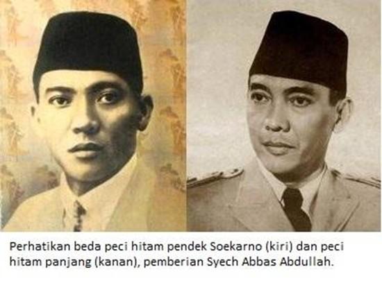 Perbedaan-peci-hitam-Soekarno